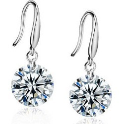 Berrylook Pair Of Alloy Rhinestone Drop Earrings online sale, sale, found on Bargain Bro India from Berrylook for $9.95