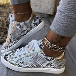 Berrylook Women's Print Snake Print Flat Sneakers clothing stores, stores and shops, Color Boots,
