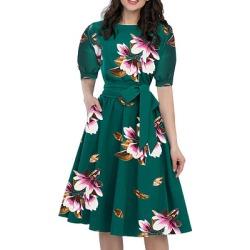 Women's Fashion Floral Print Dress