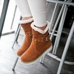 Berrylook Casual ladies belt buckle flat snow boots shoppers stop, online shop,