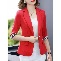 Berrylook Slim-fit fold-over collar suit Blazer cheap online shopping sites, online, Long Blazers, red blazer womens, blazer jacket