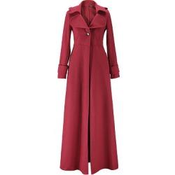 Berrylook Lapel Single Button Plain Wool-Like Duster Coat clothing stores, sale, black jacket womens, black leather jacket women