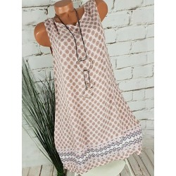Berrylook Round Neck Printed Shift Dress sale, online sale, Fitted Shift Dresses, long white dress, womens linen clothing