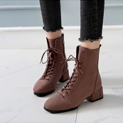 Berrylook Plain Flat Velvet Point Toe Date Outdoor Flat Boots clothing stores, clothes shopping near me,