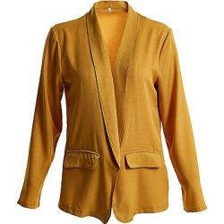 Berrylook Lapel Plain Long Sleeve Fashion Blazers shoppers stop, clothes shopping near me, blazer, long blazer