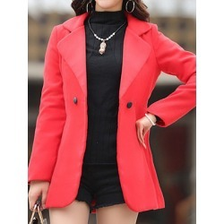 Berrylook Casual Solid Color Long Sleeve Coat shoppers stop, shop, Solid Coats, camel coat women's, warm jackets for women