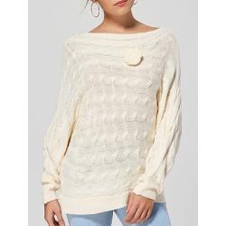 Berrylook Shoulder Collar Patchwork Elegant Plain Long Sleeve Knit Pullover online, fashion store, cardigans for women, long cardigan sweater