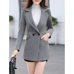 Berrylook Notch Lapel Single Button Belt Loops Plain Coat clothes shopping near me, online shop, womens winter jackets canada, red jacket womens