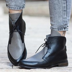 Berrylook Color Block Round Toe Boots shoppers stop, online shop,