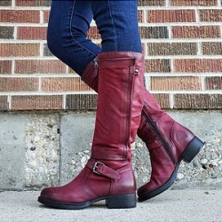 Berrylook Distressed Plain Round Toe Boots clothing stores, clothes shopping near me,