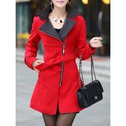 Berrylook Fold-Over Collar Plain Coat online, clothes shopping near me, plain Coats, long jackets for women, army jacket womens