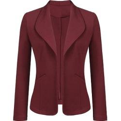 Berrylook Fashion fold collar small Blazer online sale, sale, Long Blazers, womens suit jacket, navy blue blazer women