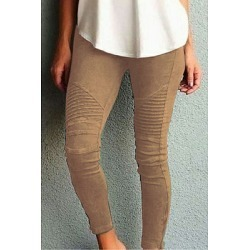 Berrylook Slim Leg Plain Pants clothes shopping near me, sale, white leggings, leather leggings