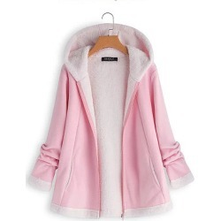 Hooded Slit Pocket Zips Plain Long Sleeve Coats