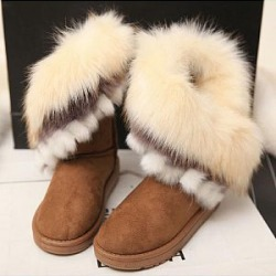 Berrylook Fashion Women Fur Thicken Warm Boots clothing stores, clothes shopping near me,