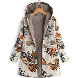 Berrylook Hooded Printed Coat online stores and shops warm coats for women mens coats sale