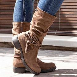 Berrylook Mid-boots tassel women's boots shoppers stop, online shop,