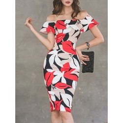 Berrylook Fashion Printed Bodycon Dress sale, shoping, printing Bodycon Dresses, bodycon mini dress, floral dresses