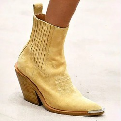 Berrylook Fashion Casual With Wooden And Suede Boots stores and shops, clothes shopping near me,