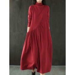 Berrylook Long Sleeve Loose Solid Color Big Swing Dress sale, online shopping sites, tunic dress, casual maxi dresses found on Bargain Bro India from Berrylook for $15.95