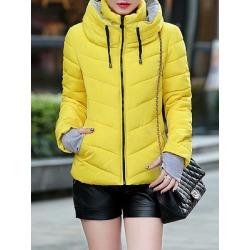 Berrylook Band Collar Patchwork Plain Coat online sale, sale, warm coats for women, black coat womens