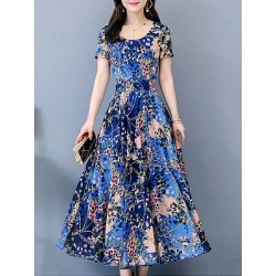 Berrylook Round Neck Printed Maxi Dress online, shoping, printing Maxi Dresses, sheath dress, long formal dresses found on MODAPINS from Berrylook for USD $28.95
