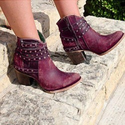 Berrylook Low-top studded women's boots clothing stores, clothes shopping near me,