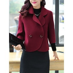 Berrylook Lapel Single Breasted Plain Blazers clothing stores, clothes shopping near me, blazer, plaid blazer womens
