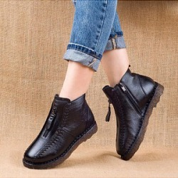Berrylook Women's comfortable flat boots sale, online shop, Solid Boots,