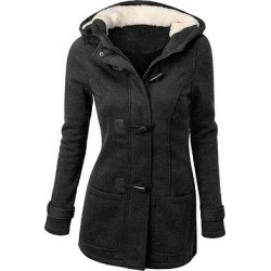 Berrylook Hooded Patch Pocket Plain Woolen Coat online shopping sites, sale, ladies jacket, womens cape coat