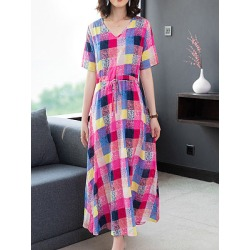 Berrylook Round Neck Print Maxi Dress online stores, online shop, shirt dress, semi formal dresses found on MODAPINS from Berrylook for USD $26.95