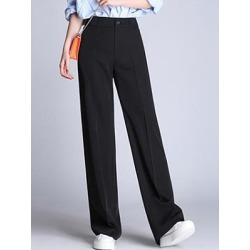 Berrylook Casual Black Pocket Wide-Leg Pants online sale, clothes shopping near me,