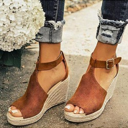 Berrylook Plain Velvet Peep Toe Date Wedge Sandals online, shoping, found on Bargain Bro Philippines from Berrylook for $26.95