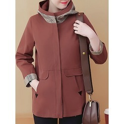 Berrylook Womens Fashion Pockes Splicing Long Sleeve Coat sale, clothing stores, splice Jackets, winter vest womens, cute winter coats