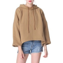 Berrylook Hooded Asymmetric Hem Plain Hoodie online shop, shop, sweatshirt, zip up hoodies