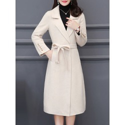 Berrylook Women Slim Coat clothing stores, sale, Long Coats, red leather jacket womens, spring jacket womens