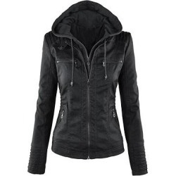 Berrylook Patchwork Brilliant Hooded Jackets shop, online sale, womens winter jackets canada, brown leather jacket womens