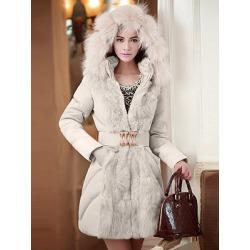 Berrylook Hooded Belt Quilted Pocket Plain Padded Coat online shop, online sale, mens coats sale, long jackets for women