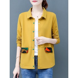 Berrylook Fashion Colorblock Fold Collar Long Sleeve Jacket cheap online stores, fashion store, Long Jackets, mens coats sale, winter clothes for women