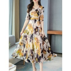 Berrylook V-Neck Plain Maxi Dress online sale, stores and shops, long formal dresses, shirt dress found on MODAPINS from Berrylook for USD $29.95