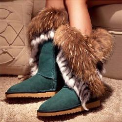 Berrylook Snow boots fox fur women's boots shoppers stop, online shop,