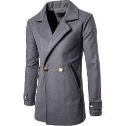 Berrylook Lapel Pocket Plain Longline Men Coat clothing stores, clothes shopping near me,