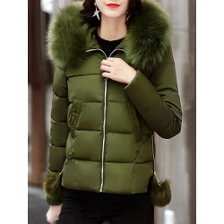 Berrylook Fashion ladies pure color hooded slim-fit short cotton coat sale, clothes shopping near me, Solid Coats, ladies jacket, winter jackets for women on sale