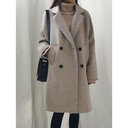 Berrylook Notch Lapel Plain Coat shoppers stop, shoping, warm jackets for women, leather jacket