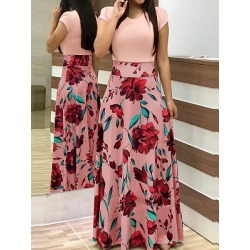 Berrylook Round Neck Patch Pocket Floral Printed Maxi Dress shop, online stores, shirt dress, long formal dresses found on MODAPINS from Berrylook for USD $20.95