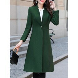 Berrylook Collarless Plain Coat sale, clothes shopping near me, trench coat women, womens winter jackets canada