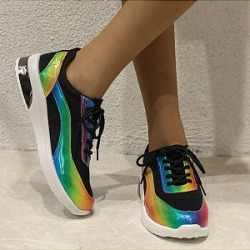 Fashion thick-soled increased running sneakers