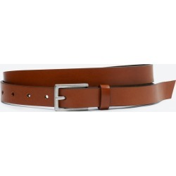 Suede Lined Leather Belt for Men by Bonobos - Brown