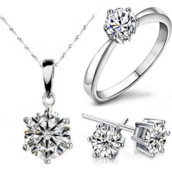 $10.15 for a .925 Sterling Silver Plated Jewellery Set