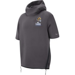 Nike Sideline Super Bowl LIII (NFL Rams) Men's Short-Sleeve Hoodie. Nike.com / found on Bargain Bro from  for $175